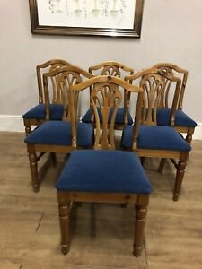 Set Of 6 Ducal Pine Kitchen Chairs