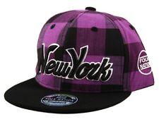 YOUTH KIDS Lumberjack Check NY New York Snapback Checkered Snap Back Cap Hat