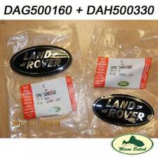 LAND ROVER FRONT REAR LOGO EMBLEM BADGE SET  DAG500160 DAH500330 OEM