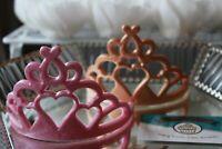 Handmade Sugar Edible Heart Princess Tiara Crown Cake Topper