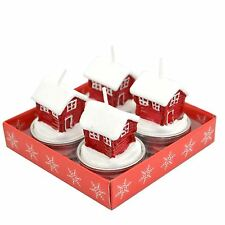 Shatchi Decorative Christmas Candles Santa Home Novelry -4 Candle Set