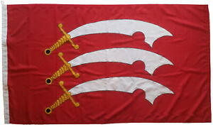 Essex county flag mod sewn embroidered woven polyester stitched marine grade