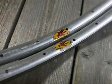 """FIAMME YELLOW LABEL RIMS CLINCHER 27"""" 32 HOLES MADE IN ITALY MILANO NOS 27 INCH"""