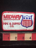 Vintage MIDWAY PIPE & SUPPLY COMPANY Advertising / Uniform Patch - 77YE