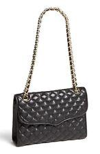 Rebecca Minkoff Auth Black Quilted Leather Affair Handbag Purse L30