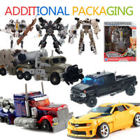 Transformers+Packag Action Figures Optims Prime Dark Of The Moon Rbots Kids Toys