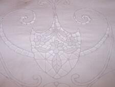 SPECTACULAR  VINTAGE ITALIAN WHITEWORK, CUTWORK LINEN SHEET, GORGEOUS, c1920