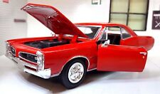 G LGB 1:24 Scale 1966 Pontiac GTO Hardtop V8 Red Diecast Model Car New Ray 71853