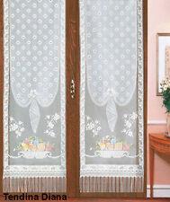 Coppia pannello a vetro tenda Diana 60 x 220 cm con passanti casa arredo tendina