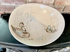 Vintage Mid Century Bob White Red Wing Large Serving Salad Bowl Quail Pattern