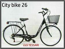 bicicletta donna bici da passeggio city bike 26 cambio 6 velocita' telaio basso