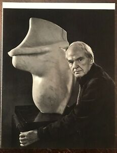 YOUSUF KARSH Photogravure Portrait Art Photo Print, 1960s - Sculptor HENRY MOORE