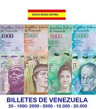BILLETES DE VENEZUELA BOLÍVARES SOBERANOS DE 20 1000 2000 5000 10000 Y 20000