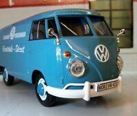 LGB 1:24 Maßstab VW T1 Mehrfachbild blau Porsche Lieferung Lastwagen Modell