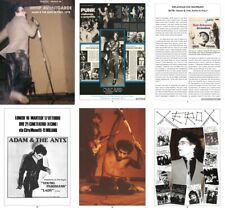 ADAM ANT AND THE ANTS – WHIP avANTgarde book PUNK 78 Italian Tour October,1978