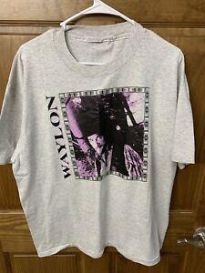 Vintage Waylon Jennings Shirt Grey & Purple Hoss Shirt XL Tour 1990s