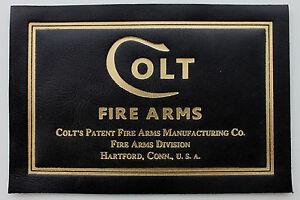 PISTOL GUN PRESENTATION CUSTOM DISPLAY CASE BOX LABEL for COLT 1911 government