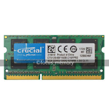 Crucial DDR3 4GB PC3-12800 DDR3L-1600Mhz 204pin Sodimm Laptop Memory Ram Non-ECC