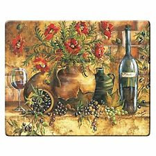 Grant Howard Italian Wine Grape Floral Tempered Glass Cutting Carving Board
