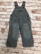 OshKosh BGosh Toddler Boys Overalls , Striped  blue Denim...