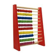 Wooden Bead Abacus Classic Frame Maths Educational Counting Toy for Childrens