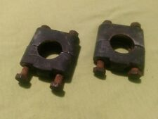Old school bmx Yamaha Moto Bike Original Handlebar Clamps