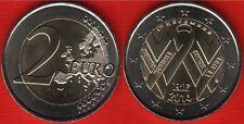 France 2 euro 2014 Fight against AIDS Side UNC Bimetal