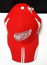 DETROIT RED WINGS NHL BASEBALL HAT CAP NHL RED AND WHITE ADJUSTABLE STYLE NWT