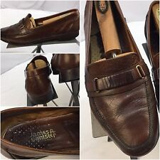 James A Banister Dress Shoes Sz 9.5 Men Brown Loafers Made In Italy YGI M6-28