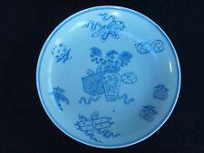 Signed Qianlong Blue-White Antique Dish