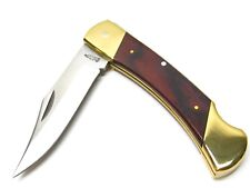 Schrade Uncle Henry Rosewood Bear Paw Folding Lockback Knife + Sheath LB7