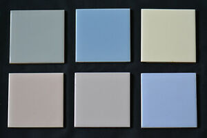 "Carter Tiles / Poole Pottery 6 3x3"" Sample Tiles Midcentury Modern Retro 1970/80"