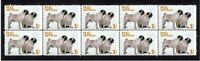 PUG YEAR OF THE DOG STRIP OF 10 MINT VIGNETTE STAMPS 1