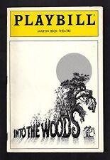 "Stephen Sondheim ""INTO THE WOODS"" Joanna Gleason / ""Carrie"" Ad 1988 Playbill"