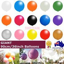 "90cm Giant Large Jumbo Latex Balloons Round Helium Birthday Wedding Party 36"" AU"