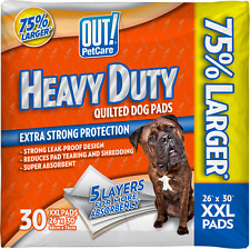New listing Out! Heavy Duty Xxl Dog Pads, Absorbent Pet Training and Puppy Pads,30 Pads