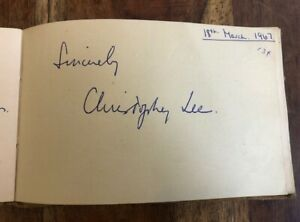 Christopher Lee- Signed Autograph -18 March 1967- Provenance -Lord of The Rings