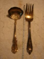 2 Fancy Rogers Bros. 1847 Serving Pieces Ladle & Fork - SEE PHOTOS