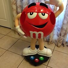 "Red M&M Candy Character 39"" Tall Store Display On Wheels Floor Display"