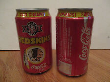 Coca-Cola 1990 Super Bowl XXVI Champions WASHINGTON REDSKINS 12 oz Can