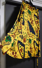 sportsgirl open wrap skirt, retro look,beautiful color and print, VGC, S (10-12)