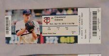 Minnesota Twins Vs Cleveland Indians 4/19/15 Ticket Stub