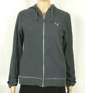 PUMA Women's Sweat Suit Tracksuit Pants and Hoodie Set Gray Medium