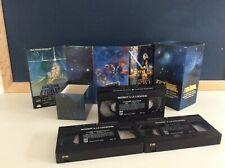 ♥ Ancien Coffret K7 Cassettes Vidéo VHS La Trilogie Star Wars