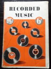 Australian EMI RECORD CATALOGUE 1946-1947