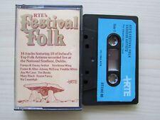 RTE's FESTIVAL OF FOLK [VARIOUS] CASSETTE, 1982 RTE, IRELAND, TESTED, RARE.