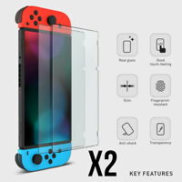 2 Pack of TEMPERED GLASS Screen Protector Covers For Nintendo Switch