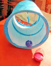 KITTEN / CAT ACTIVITY TUNNEL WITH  BELL BALL & WHISKAS TREAT TOY PETS AT HOME