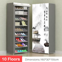 Chaussure Stockage Rack Mural Étagère Placard Agenda 10 Sols Plate-Forme Boite