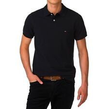 Tommy Hilfiger Polo Poloshirt schwarz black Gr. M *NEU+ OVP*